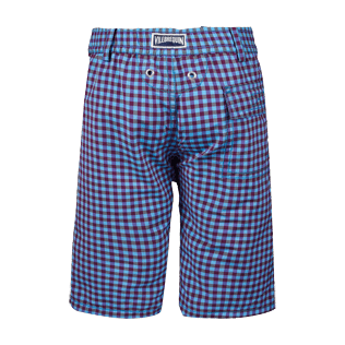 Boys Others Graphic - Boys Straight Bermuda Shorts Carreaux, Reddish purple back