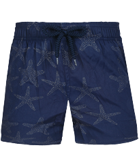 Niños Autros Mágico - Boys Swimwear Stretch Starfish Dance Diamond, Azul marino front