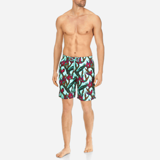 Men Long classic Printed - Men Long Swimwear Paradise 3D, Lagoon frontworn
