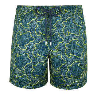 Men Embroidered Embroidered - Men Swimtrunks Embroidered Hypnotic Turtles - Limited Edition, Spray front