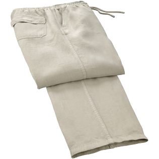 Men Pants Solid - Men Linen Pants Solid, Hessian front