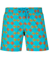 Boys Others Printed - Boys Swimwear Stretch Fishes in Love, Light azure front
