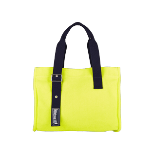 Bags Solid - Small Cotton Beach bag Solid, Chartreuse front