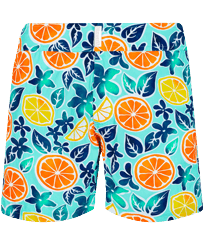 Men Flat belts Printed - Men Stretch Short Swim Trunks Flat belt 1994 Presse-Citron , Lagoon front