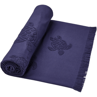 Altri Unita - Fouta in spugna Turtles Jacquard, Midnight blue supp1