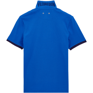 Men Others Solid - Men Cotton Polo Shirt Solid, Royal blue back