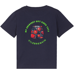 Boys Others Printed - Cotton Boys T-Shirt Crackers, Navy back