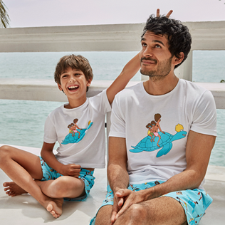 Boys Others Printed - Boys Swimwear My Favorite Dad !, Sky blue 2 supp1