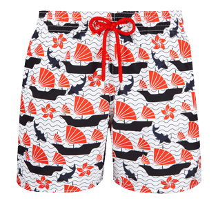 Men Classic Printed - Men Swimwear Hong Kong - Web Exclusive, White front