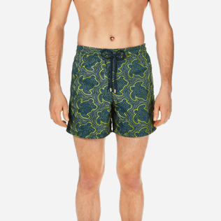 Men Embroidered Embroidered - Men Swimtrunks Embroidered Hypnotic Turtles - Limited Edition, Spray supp1