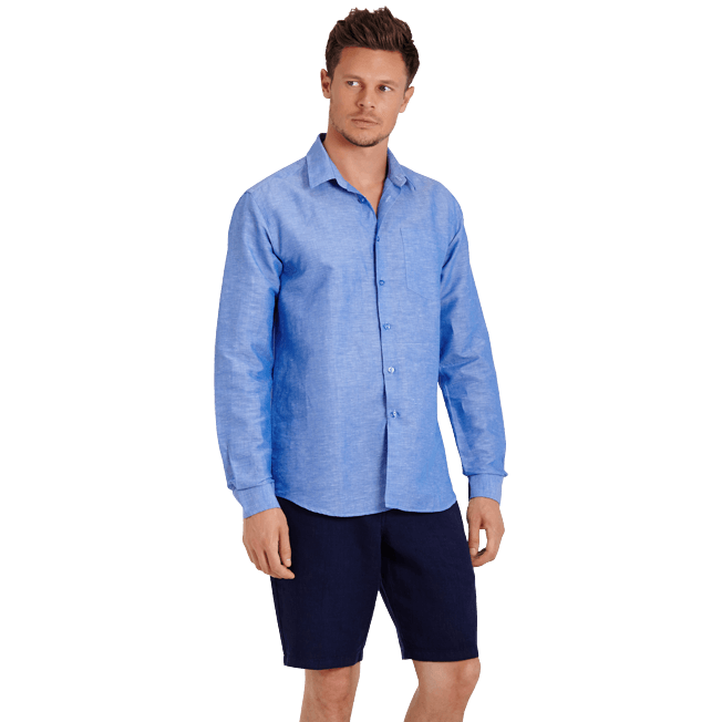 Vilebrequin - Men Cotton Linen Shirt Solid - 3