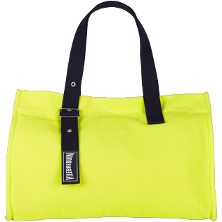Others Solid - Large Cotton Beach bag Solid, Chartreuse front
