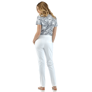 Women Pants Solid - Solid Skypants, White backworn