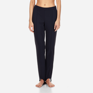 Women Pants Solid - Spindle pants, Navy backworn