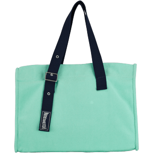 Others Solid - Big Cotton Beach Bag Solid, Mint front