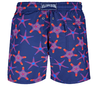 Men Classic Printed - Men Swim Trunks Starfish Dance, Sapphire back