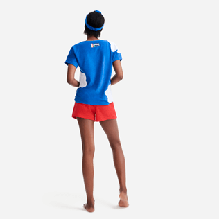 Women Others Solid - Women terry cloth shortie solid - Vilebrequin x JCC+ - Limited Edition, Poppy red backworn