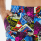 Men Flat belts Printed - Men Flat Belt Stretch swimtrunks Queen Tour, Sea blue supp1