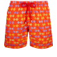 Herren Klassische Bestickt - Men Swimwear Embroidered Fishes in Love - Limited Edition, Medlar front