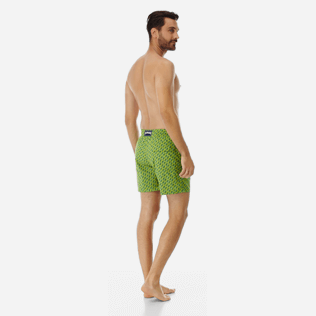 Men Stretch classic Printed - Men Stretch swimtrunks St Barth, Cactus backworn
