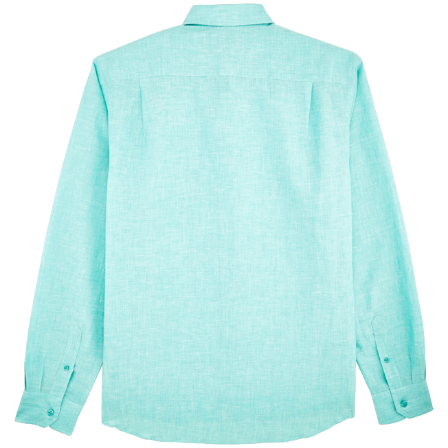 Vilebrequin - Camisa en lino de algodón liso para hombre - 2
