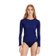 Women Others Printed - Women Rashguard Jungle, Midnight blue frontworn