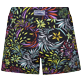 Women Others Printed - Stretch Women Swim Short Evening Birds, Black back