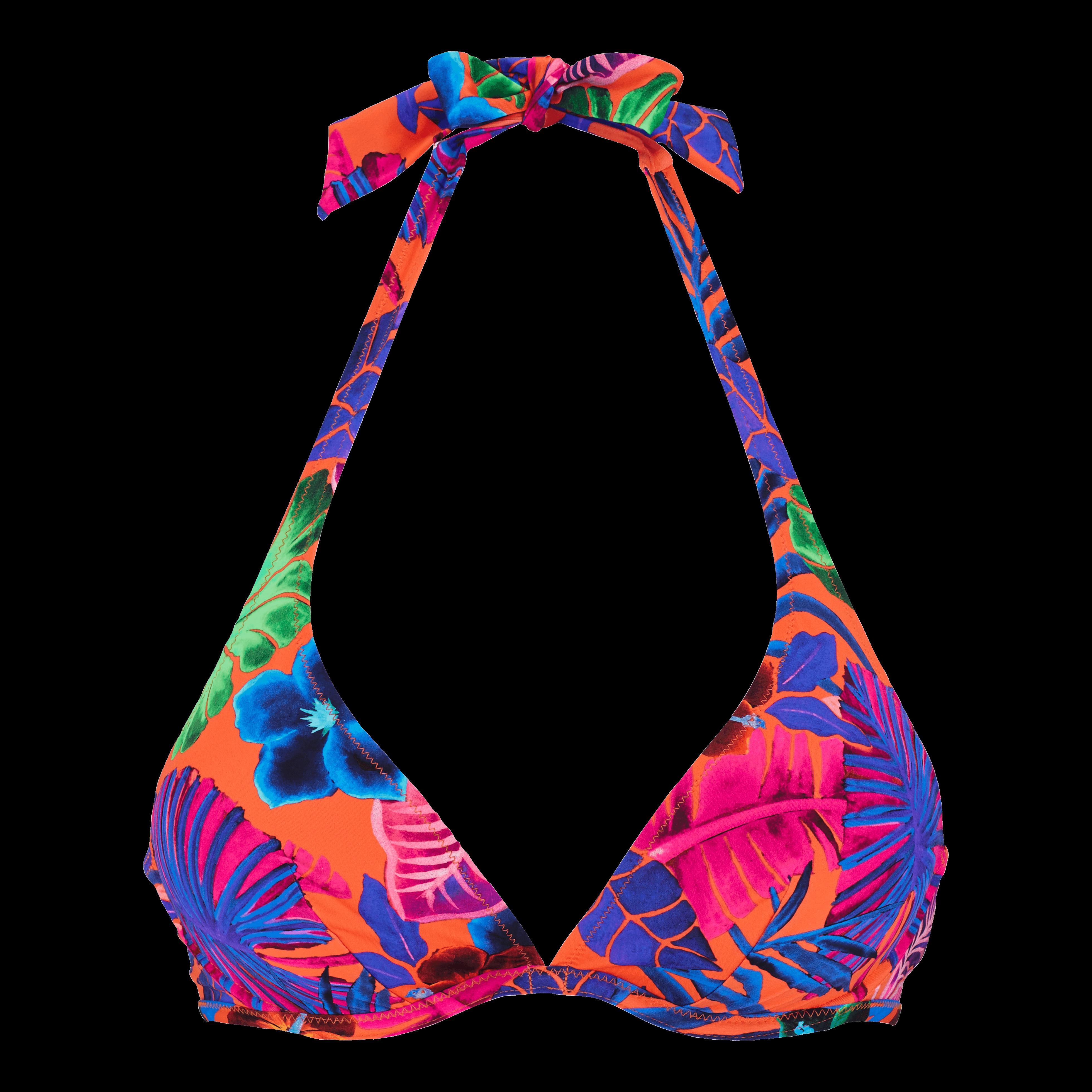 Women Swimwear - Women Bikini Top With Underwires Porto Rico - Swimming Trunk - Faith in Orange