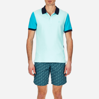 Men Polos Solid - Multicolor Cotton pique polo, Unique supp1