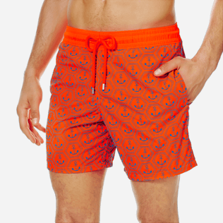 Men Ultra-light classique Printed - Men Swim Trunks Ultra-Light and Packable Ancre de Chine Fluo, Neon orange supp1