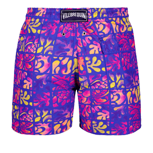 Men Classic Printed - Men swimtrunks Phuket, Sea blue back