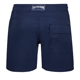 Men Flat belts Solid - Men Flat Belt Stretch Swim Trunks Solid, Navy back