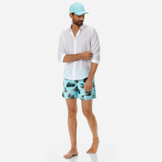 Men Classic Printed - Men swimtrunks Joker Queen, Aquamarine supp2