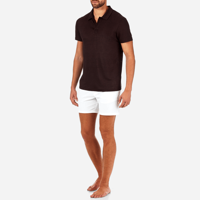 Vilebrequin - Solid Linen jersey polo - 3