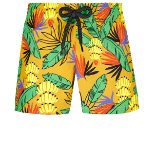 Niñas Autros Estampado - Girls Swim Short Go Bananas, Curry front