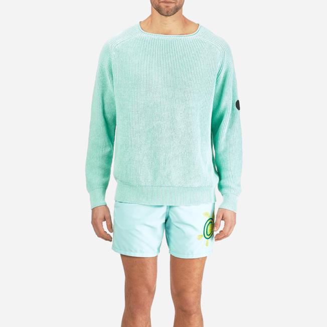 Vilebrequin - Men Cotton Linen Pullover Solid - 5