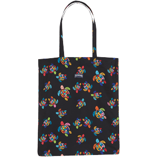 Others Printed - Tote bag Over the rainbow turtles, Black front