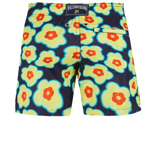 Boys Others Printed - Boys Swim Trunks Ultra-light and packable 1981 Flower Turtles, Sapphire back