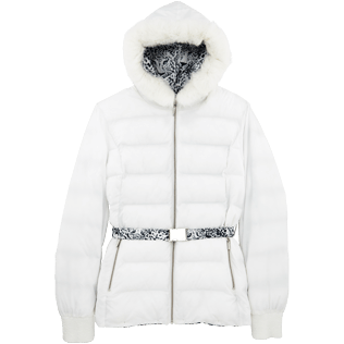 Women Vests AND Jackets Printed - Snow Tiger Reversible Down Jacket, White supp5