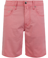 Men Others Solid - Men 5 Pockets Bermuda Shorts Neo Pink, Fluo pink front