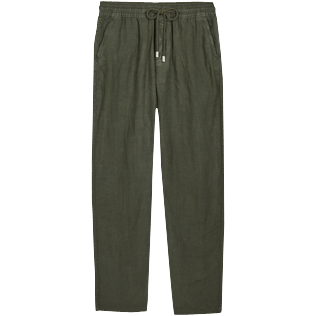 Men Others Solid - Men Linen Pants Solid, Pepper front
