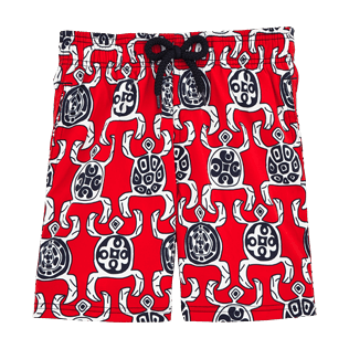 Boys Others Printed - Primitive Turtles Superflex Superflex Swim Shorts, Poppy red front