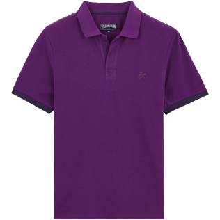 Men Others Solid - Men Cotton Polo Shirt Solid, Plum front