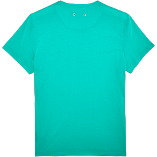 Men Others Solid - Men Mercerized Cotton T-shirt Solid, Veronese green back