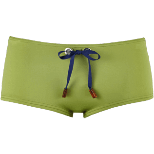 Women Shorty Solid - Women Shortie Bikini Bottom Neoprene, Moss front