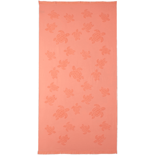 Others Solid - Unisex Beach Towel Fouta Jacquard Tortues, Blush front