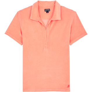 Women Others Solid - Women Terry cloth Polo Shirt Solid, Blush front