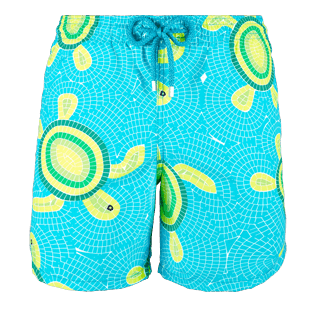 Men Classic / Moorea Printed - Men Swimwear Mosaic Turtles, Curacao front