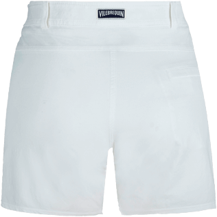 Women Others Solid - Women Long swim short Solid, White back