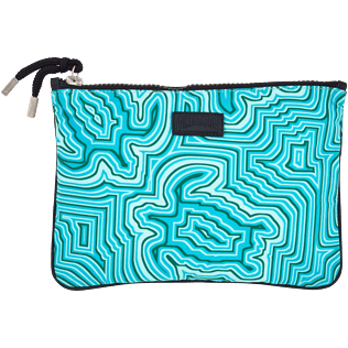 Others Printed - Zipped Beach pouch Hypnotic Turtles, Curacao front